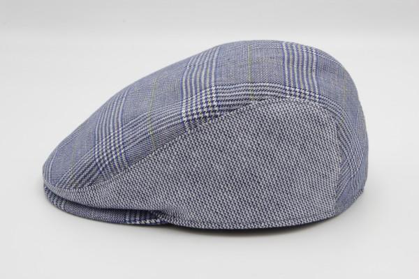Schieber Mütze Martin Blau/Grau Karo