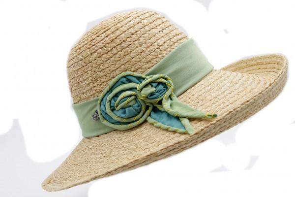 Damen Hut aus Raffia Stroh Modell Stefanie